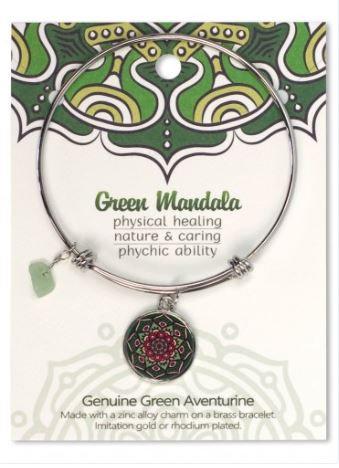 Adjustable Bracelet Mandala Green Aventurine