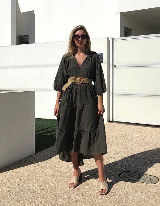 Smock Dress in Khaki
