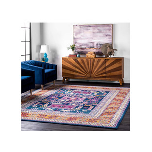 Bold Eclectic Style Tribal Area Rug