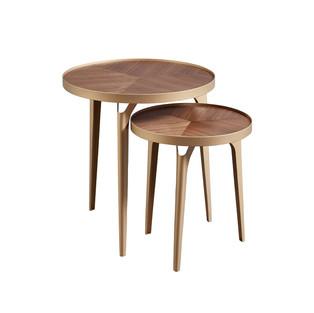 Mid Century Modern Nesting Metal Side Table