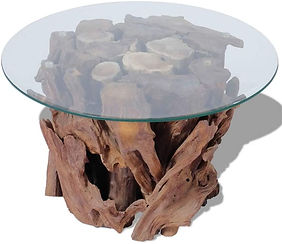 Coffee Table from Solid Teak Driftwood