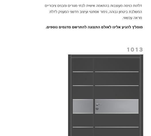 דלתות בטחון מעוצבות 1013