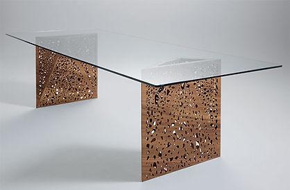 ultra modern riddled table