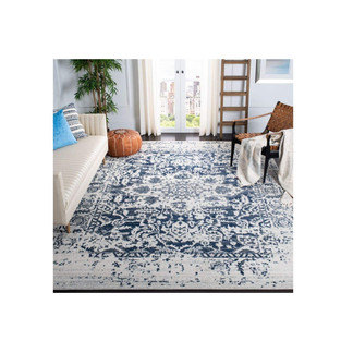 New Traditional Style Distressed Medallion Area Rug