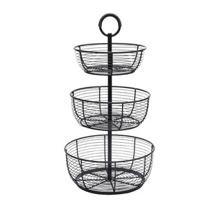 French Country Style Three Tier Storage Basket