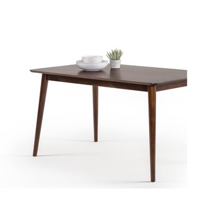 Mid Century Modern Solid Wood Dining Table
