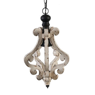 French Country Style Wooden Chandelier