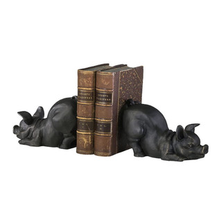 French Country Style Piglet Bookends