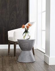 Modern Logan End Table, Anthracite Grey.