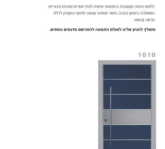 דלתות בטחון מעוצבות 1010