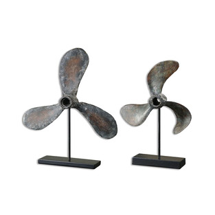 Coastal Style Antique Boat Propellers