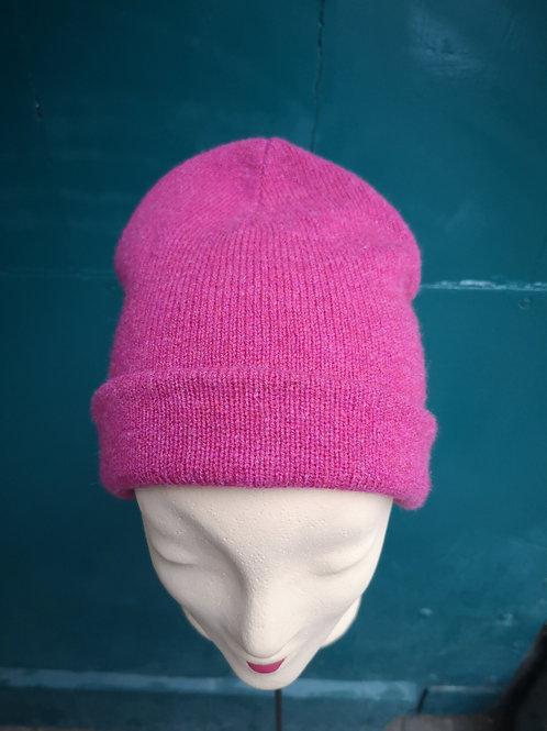 Strickmütze pink Merinowolle