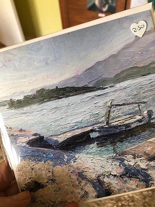 Seascape and landscape cards