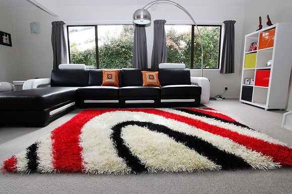 Colo Rug - Red/White/Black