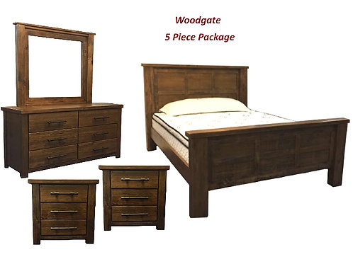 Woodgate 4 PC Queen Dresser Package