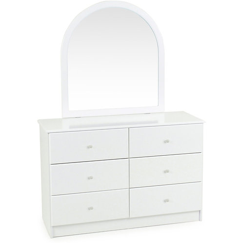 Kingston Dresser & Mirror (White)