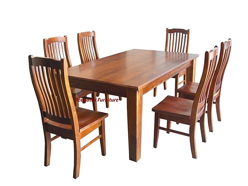 New Farm 7 Piece Dining Suite - 1500mm