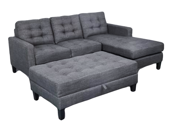 Gatsby RHF Chaise - Ottoman with Storage