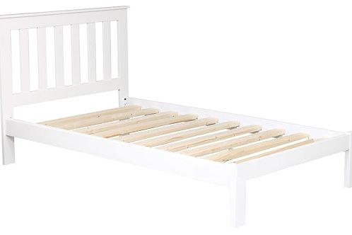 Tina King Single Bed - White