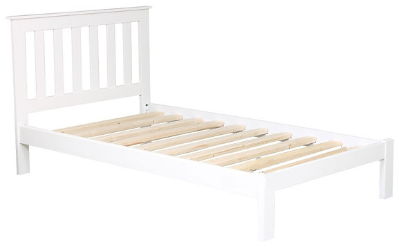 Tina King Single Bed - White