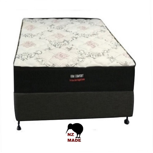 Kiwi Comfort King Single Mattress + Bed Base - NZ Made