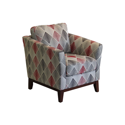 Rosa Accent Chair (Scarlet)