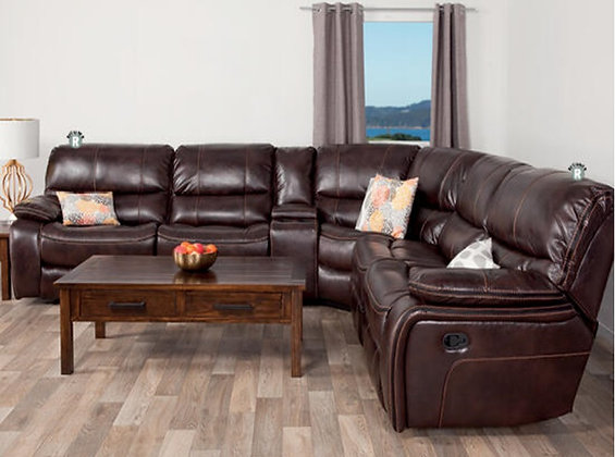 Dallas Recliner Corner Lounge Suite - Fresno Brown