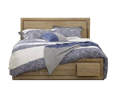 Tempo King Bed Frame with Drawers