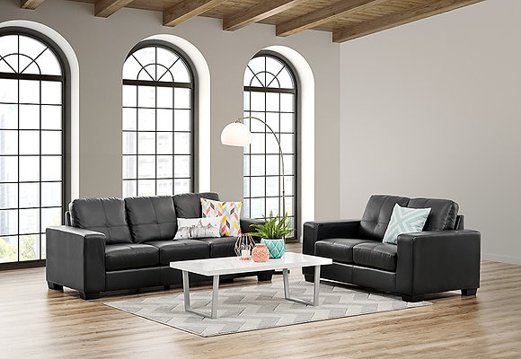 Crystal Sofa Set - Black