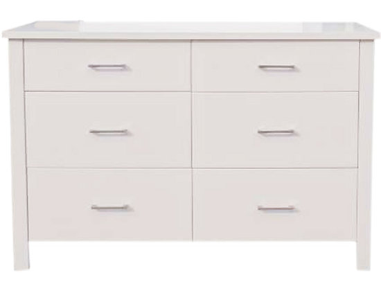 Tina Lowboy 6 Drawer - White
