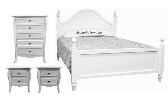 PROVENCE 4PC White Bedroom Package
