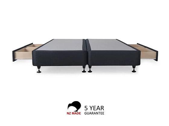 Bed Base 4 Drawers NZ Made - King Split
