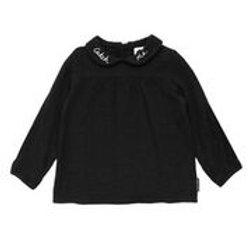 חולצת צווארון שחורה
