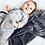 Thumbnail: אוברול פרינט אוריגמי אפור