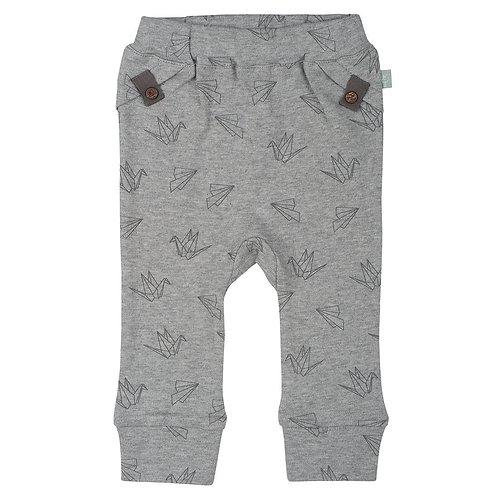 מכנסיים עם פרינט אוריגמי