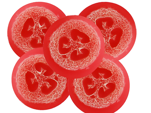 Round Rose Loofah Soap