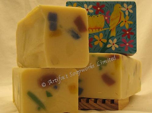Almond Confetti Soap Loaf