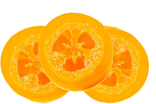 Round Satsuma Orange Loofah Soap