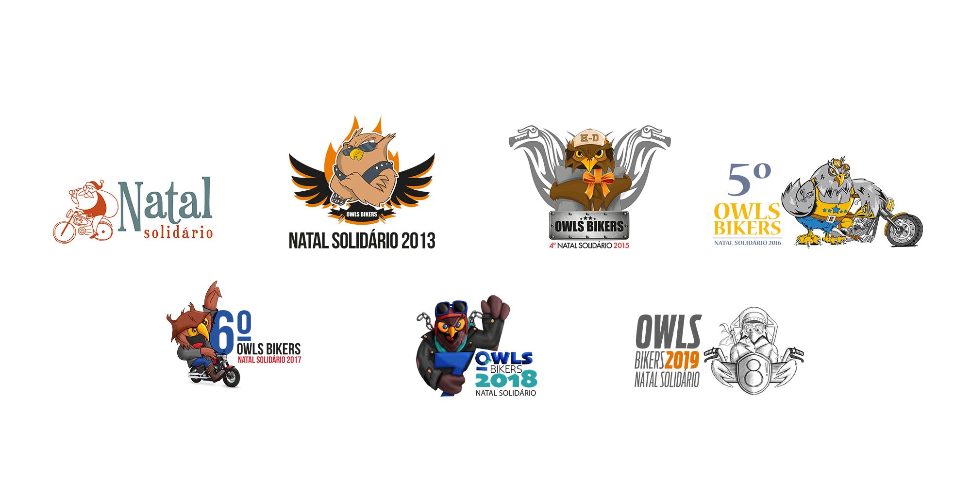 Evolução dos logotipos da ação solidária