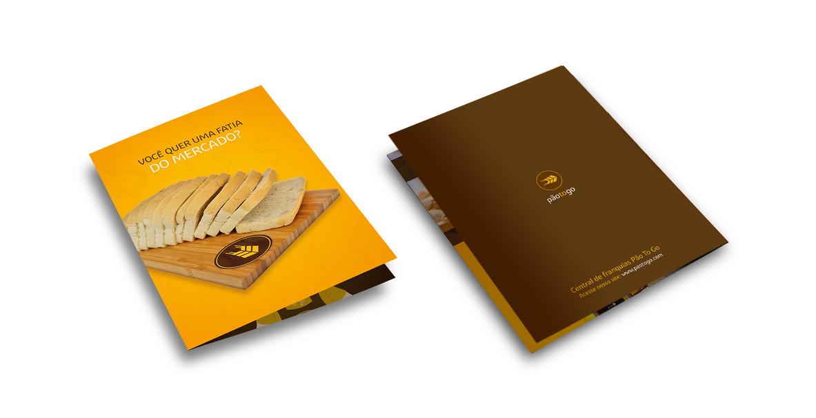 Criação de folder para venda de franquias