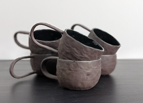 Coffee Clay Teacup Set (6 pieces)