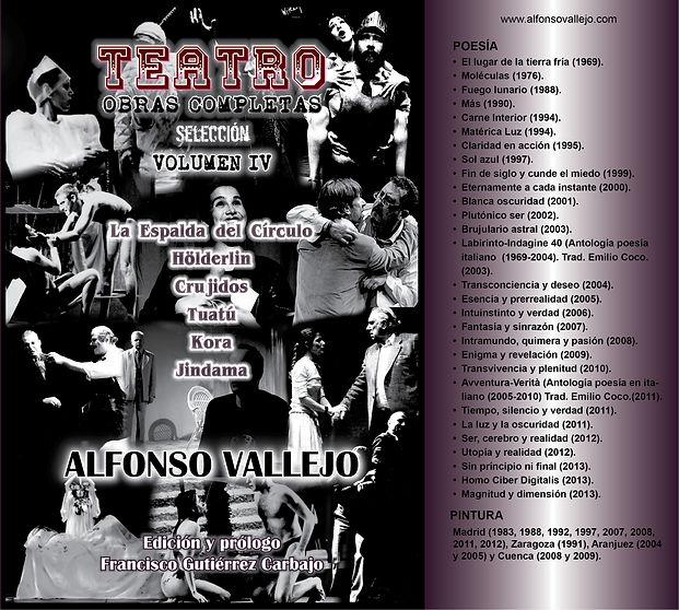 Portada Teatro Volumen IV