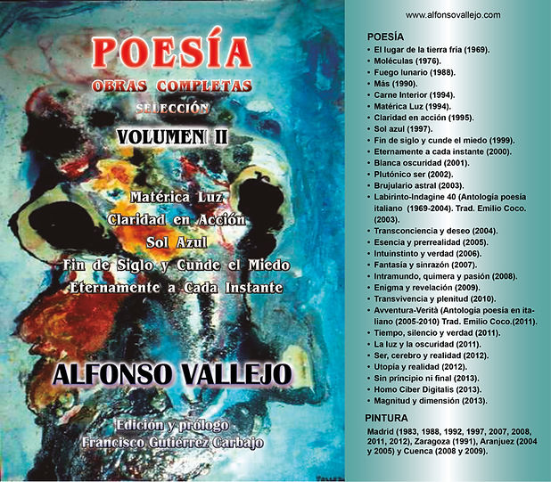 Portada Volumen II Poesía