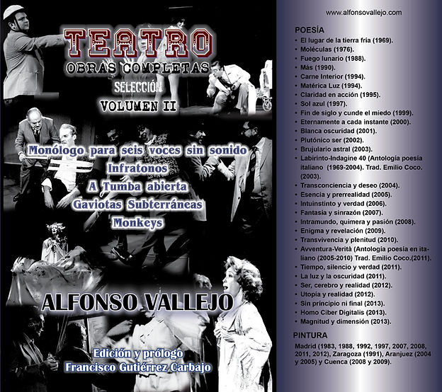 Portada Volumen II Teatro