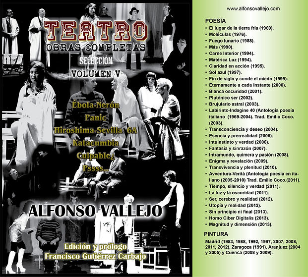 Portada Teatro Volumen V