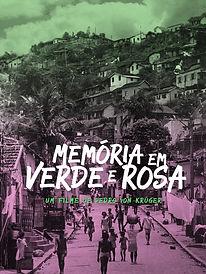 Cartaz Memóri em Verde e Rosa