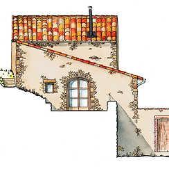 Maison ancienne à Auzon