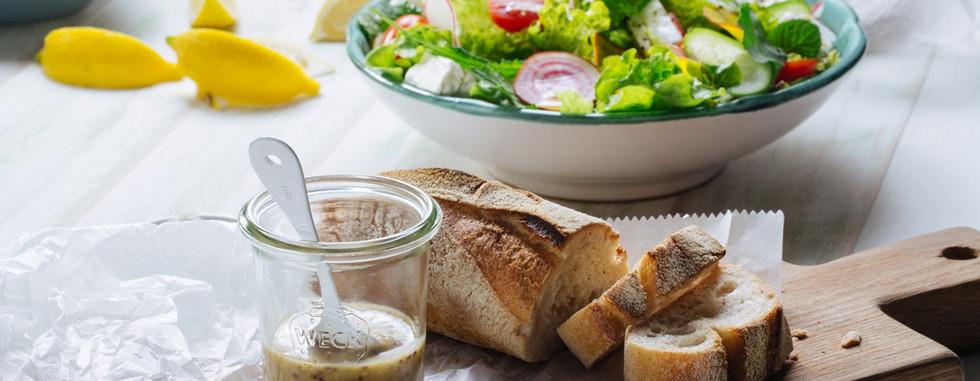 Pão e salada