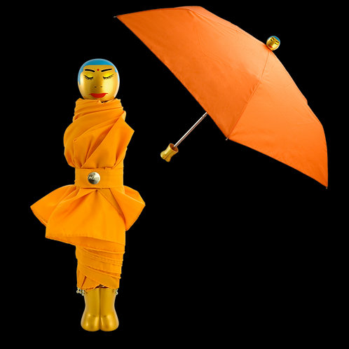 Pylones Rain Parade Compact Umbrella - Orange