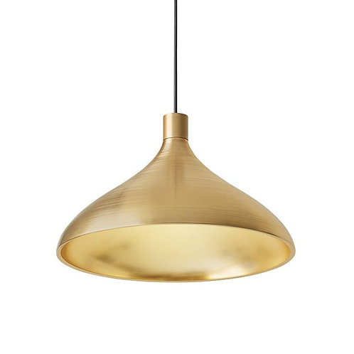 Pablo Swell Wide Pendant Lamp- Brass/Brass